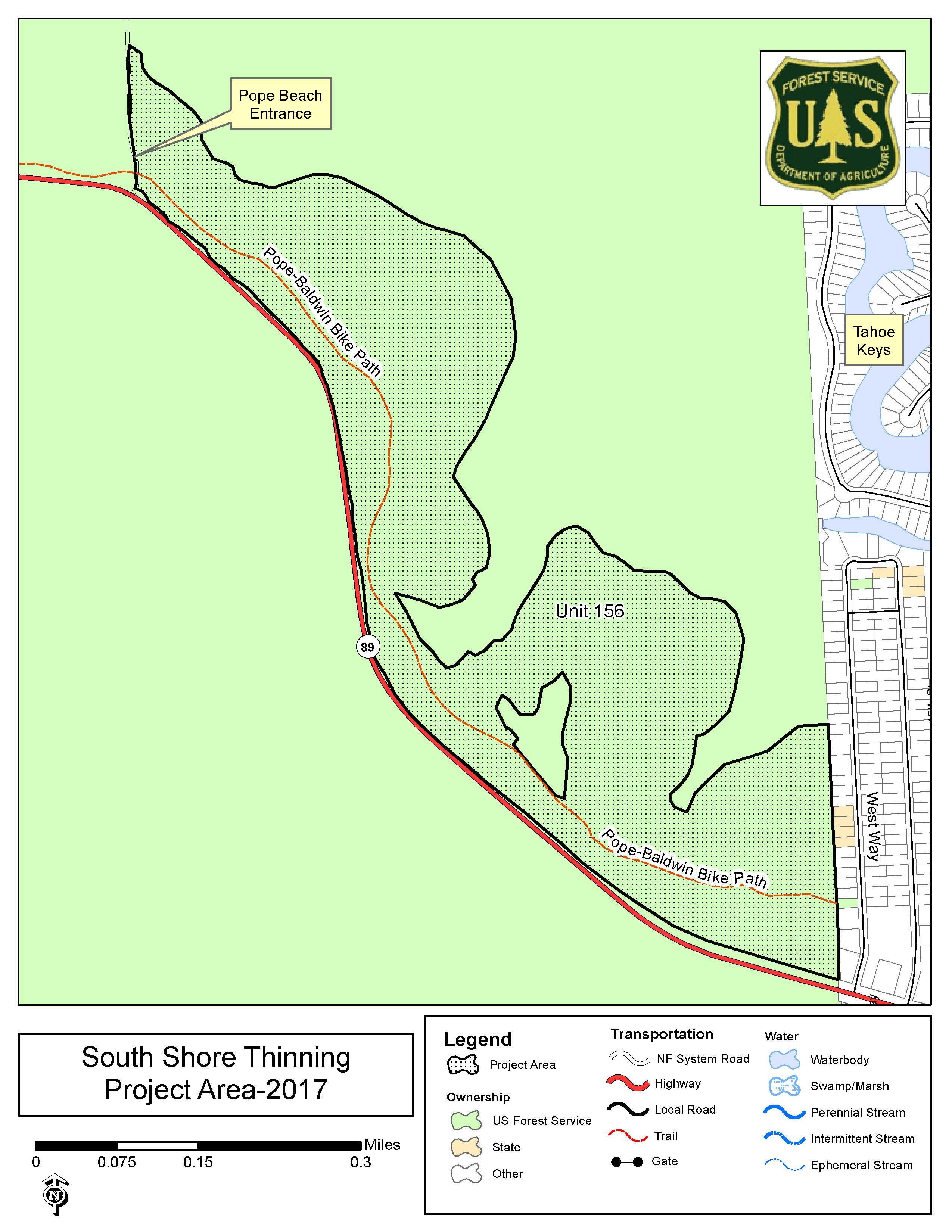 Lake Tahoe Basin Mgt Unit News Events - Lake tahoe us map