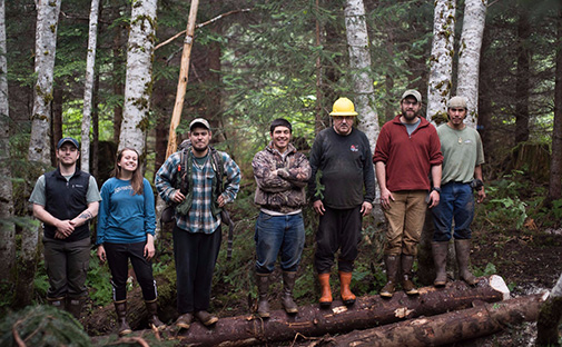 Spasski Creek project with the Hoonah Native Forest Partnership Crew
