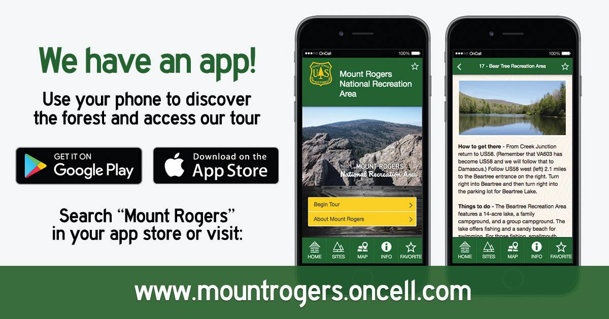 We have an App! Search Mount Rogers in your app store
