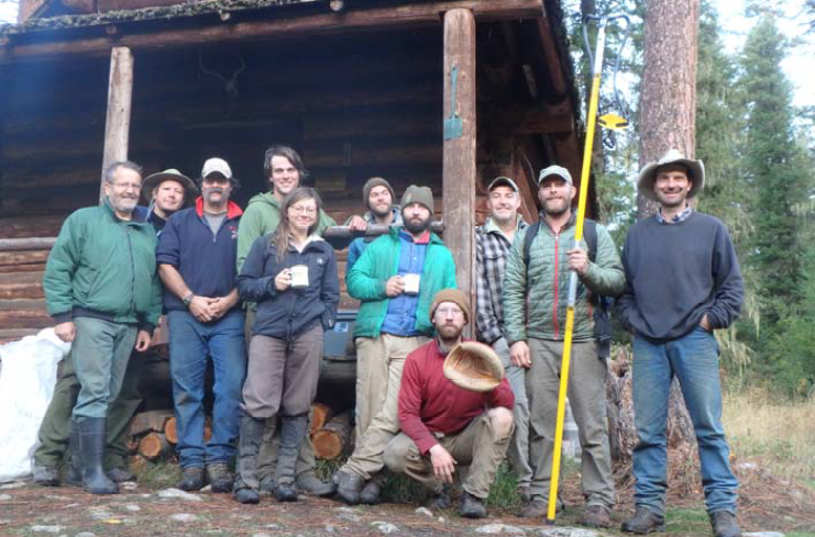 A group shot of those who participated in the Selway River Bank Stabilization project.