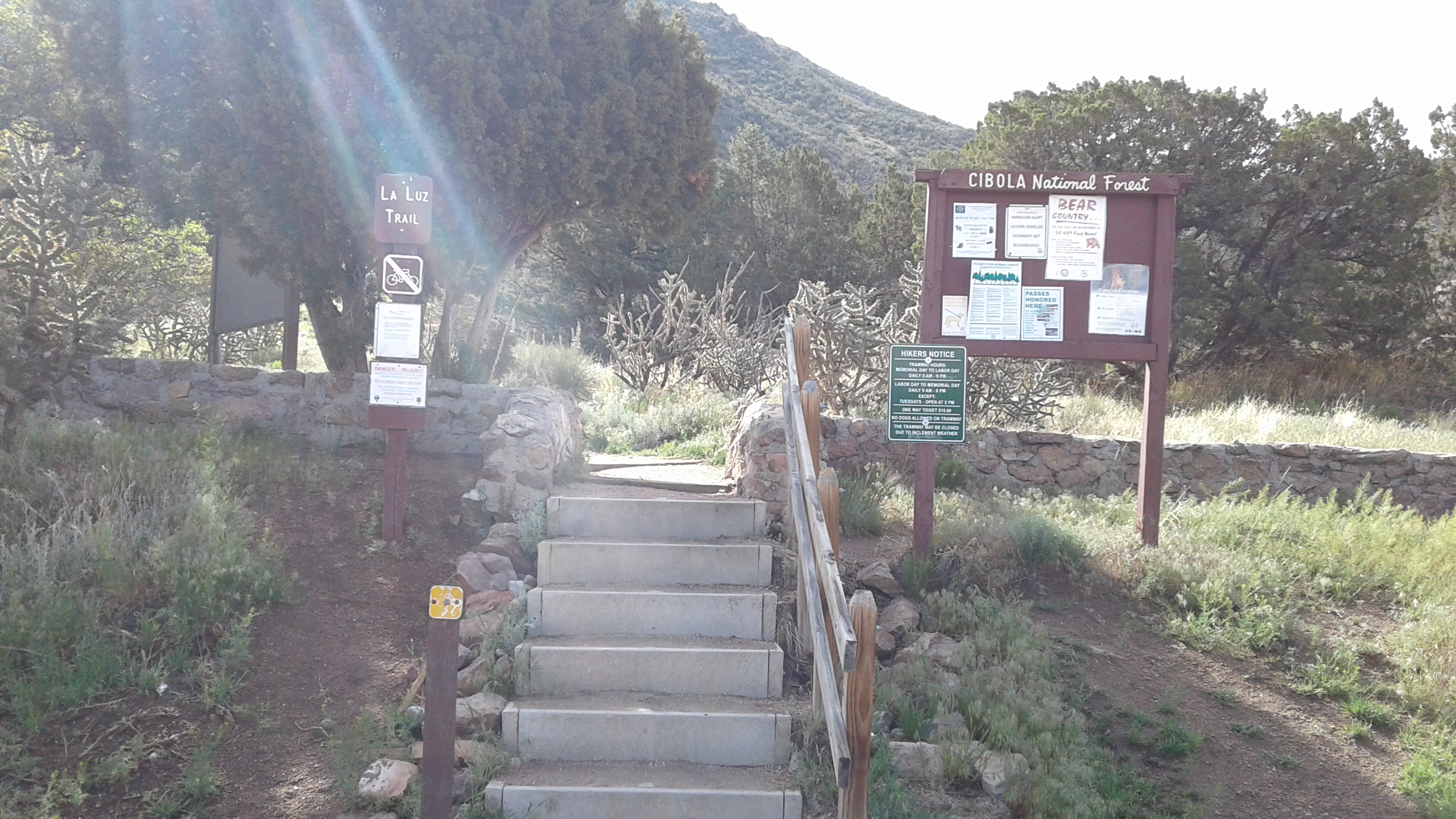 La Luz stairway to the trail