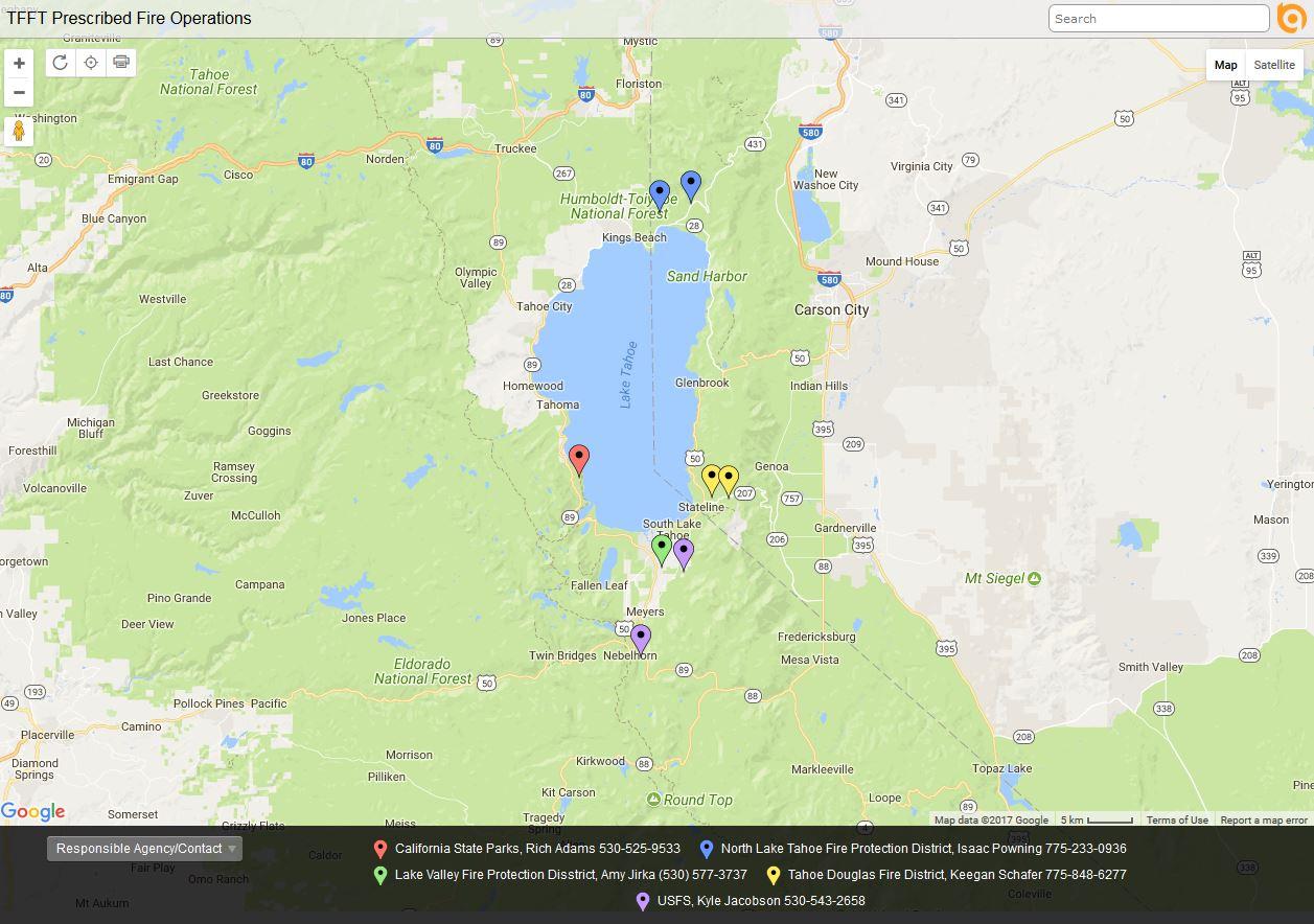 Lake Tahoe Basin Mgt Unit News Events - North lake tahoe map