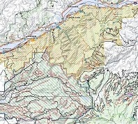 Red River Gorge Topographic Map.Columbia River Gorge National Scenic Area Maps Publications