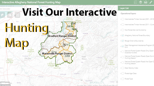 Visit our new INTERACTIVE hunting map!