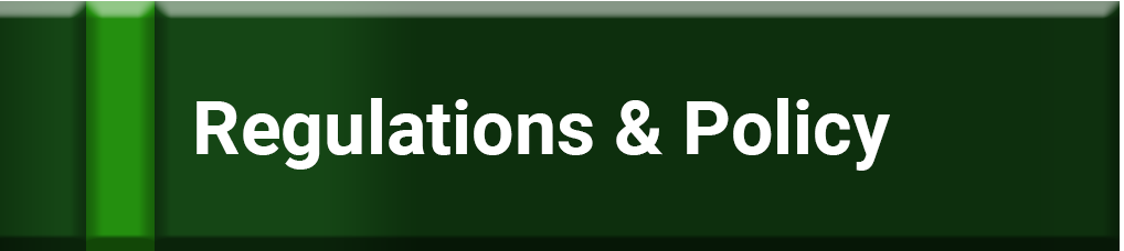 Green button to click on to access Regulations and Policies information.
