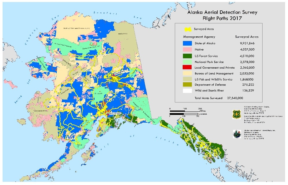 Region 10 Forest Grassland Health - Map-of-alaska-over-the-us