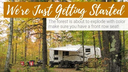 Make your reservations for the 2019 camping season.
