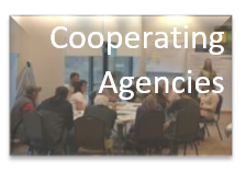 Cooperating Agencies meeting in background