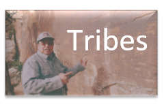Tribes and Tribal member in background