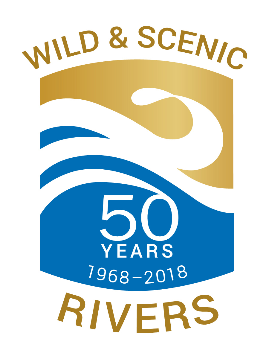 Logo for 50th Anniversary of Wild and Scenic Rivers