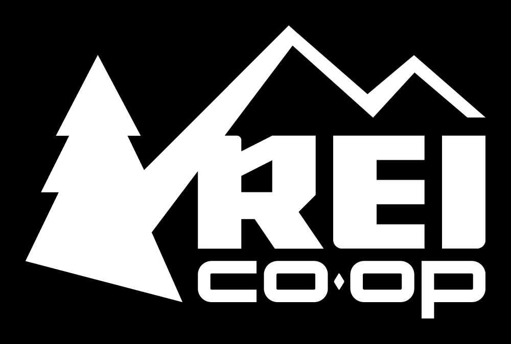 REI black and white Logo