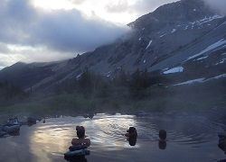 A few people in Conundrum Hotsprings