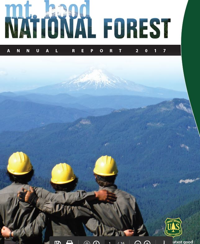 2017 Mt Hood NF Annual Report Thumbnail