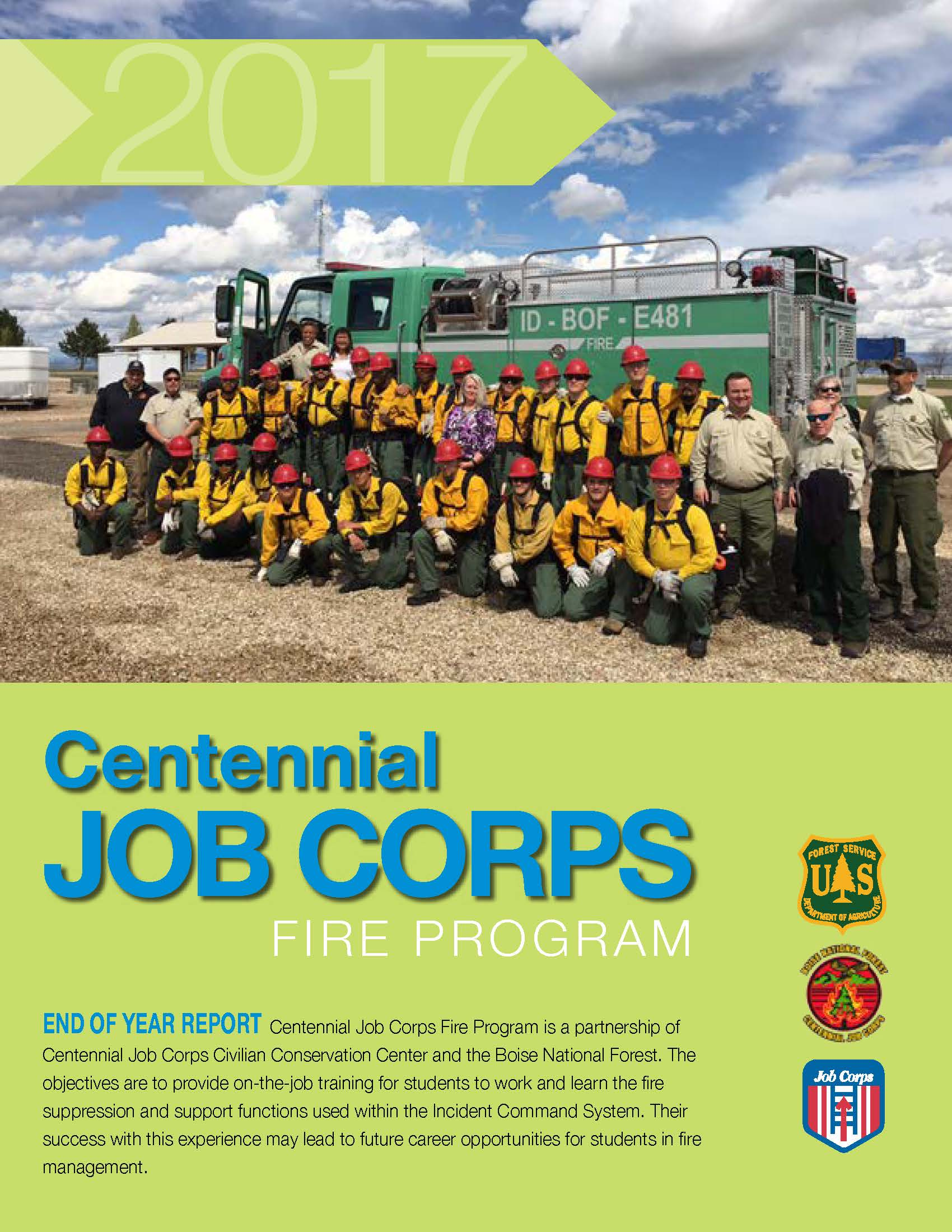 Photo of Job Corps cover page