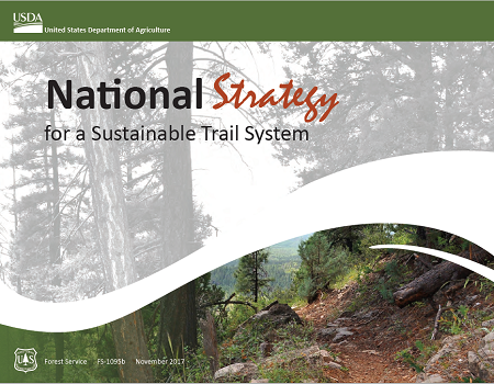 Graphic: National Strategy for sustainable trails cover.