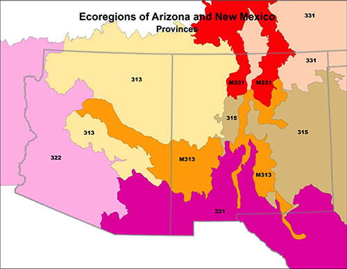 Map Of Arizona Regions.Region 3 Wildlife
