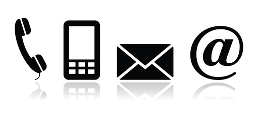 Phone, Mail and Email Graphic