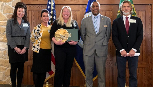 Five people receiving the much coveted Regional Forester's Honor Award 2018.