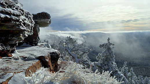 View of Mogollon Rim and Valley in Winter (Taken by  Simon Cox)