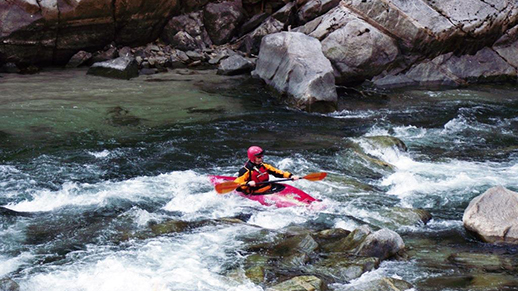 Photo of Kayaker within Lowman Ranger District