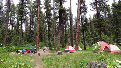 Photo of camping within Idaho City Ranger District