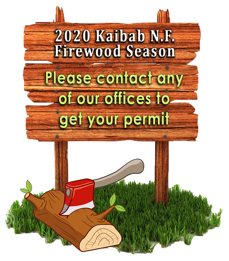 Wooden sign with ax-log fuelwood image for 2018