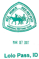 Passport stamp with date and location