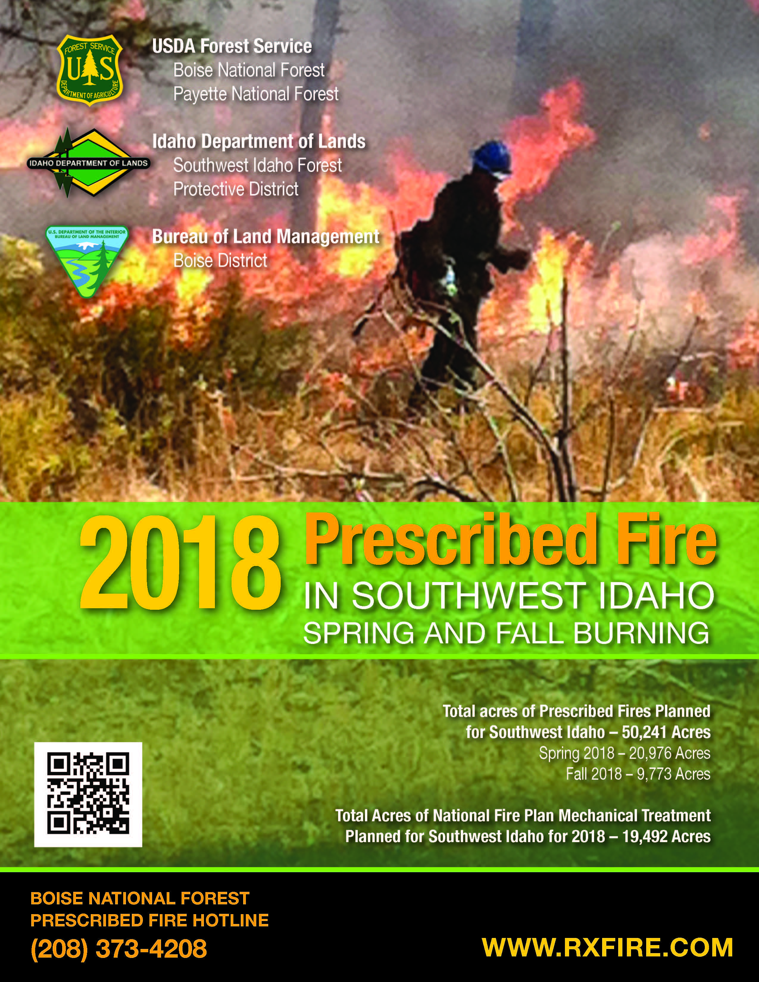 Photo of 2018 Prescribed Fire Booklet Cover