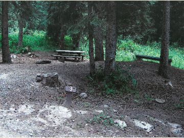 Photo of Campsite #3 at the Meadow Lake Campground, Rifle Ranger District