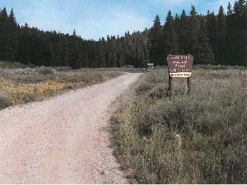 Photo of the entrance to Meadow Lake Campground