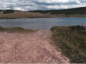Photo of the accessible boat ramp at the Meadow Lake Picnic Area