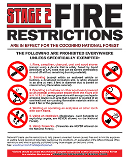 Flyer for Stage II Fire Restrictions