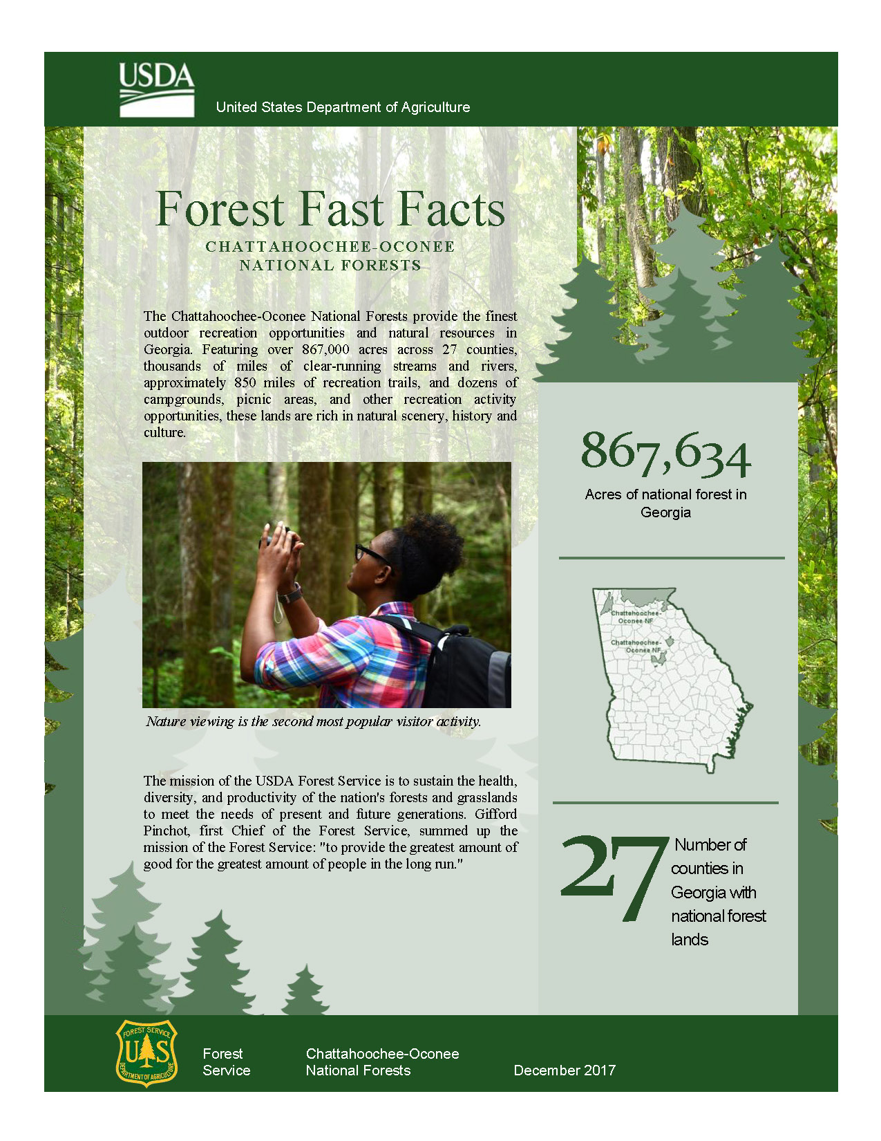Fast Facts about the Chattahoochee-Oconee National Forests