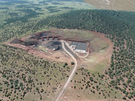 Aerial view of second knoll target range