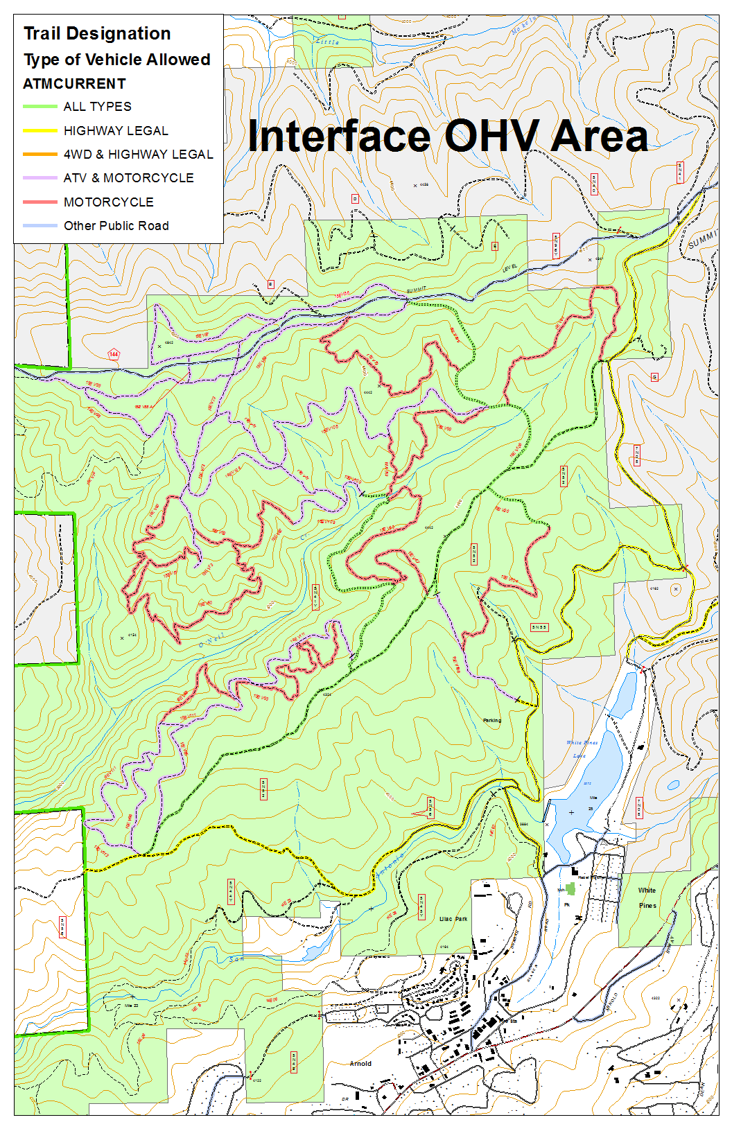 Stanislaus National Forest Interface Ohv Area