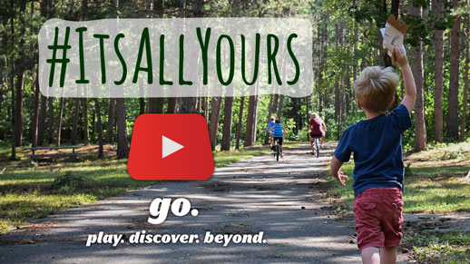 #ItsAllYours go out and enjoy the forest.