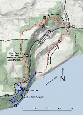 Cape Horn Trail Map