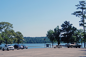The boat ramp at Scott's Ridge on the Sam Houston National Forest.
