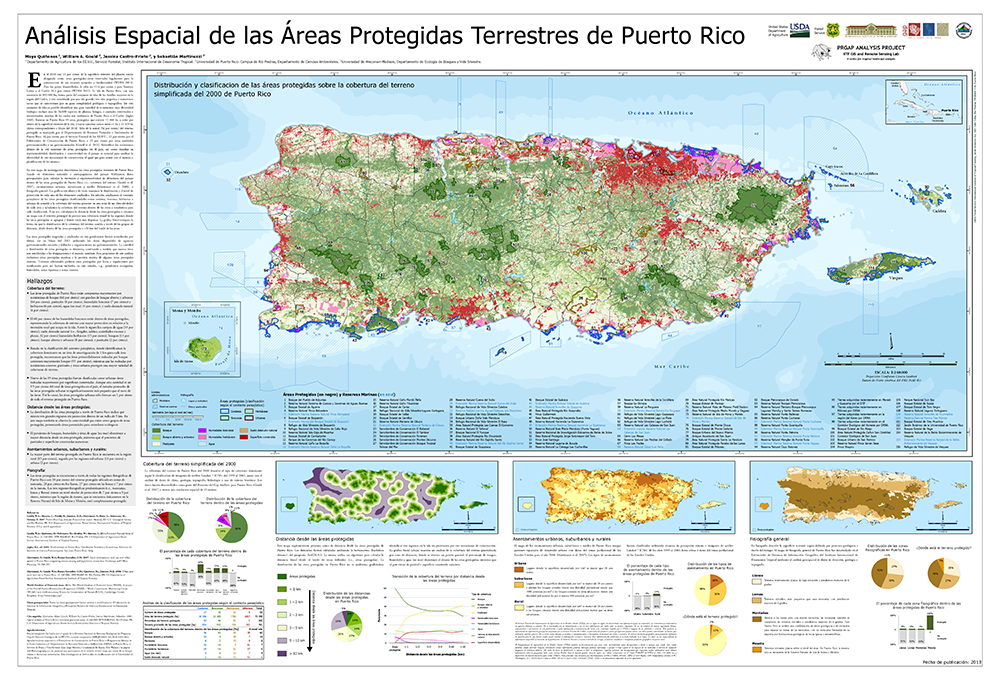 Spatial analysis of Puerto Rico's terrestrial protected areas.