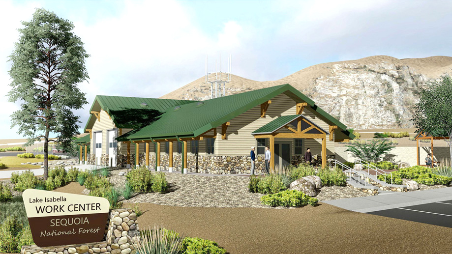 Front of the Lake Isabella Visitor Center