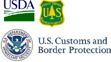 USDA FS Insignia and US Customs and Border Protection Logo