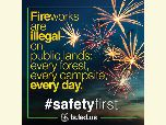 Poster Fire works are illegal on public lands