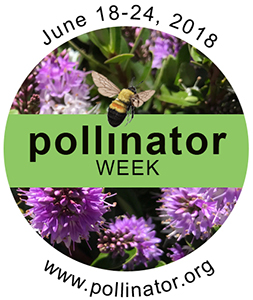 Logo for the 2018 National Pollinator Week