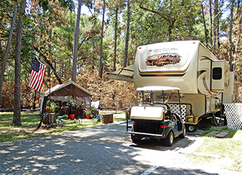 Host camp site on the Sam Houston National Forest
