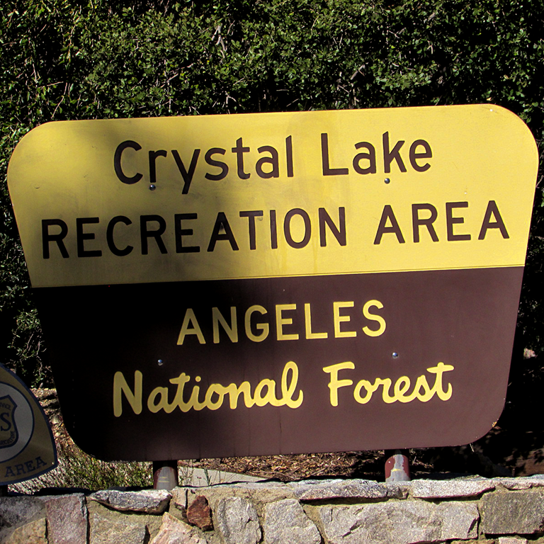 Crystal Lake Recreation Sign