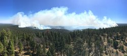 Panoramic view of the Tinder Fire, East Clear Creek