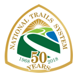 Logo for the National Trails System 50th Anniversary from 1968-2018