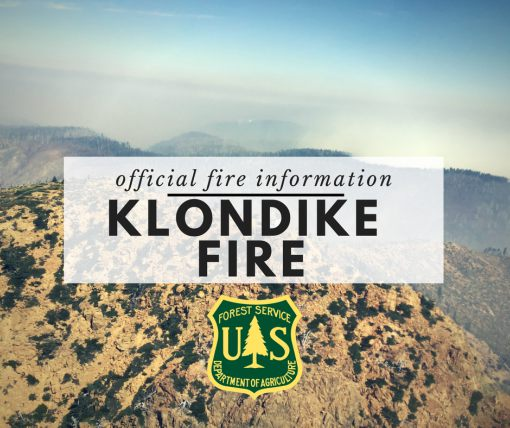 Klondike Fire Information button