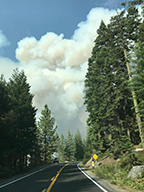 Photo of Donnell Fire August 2018