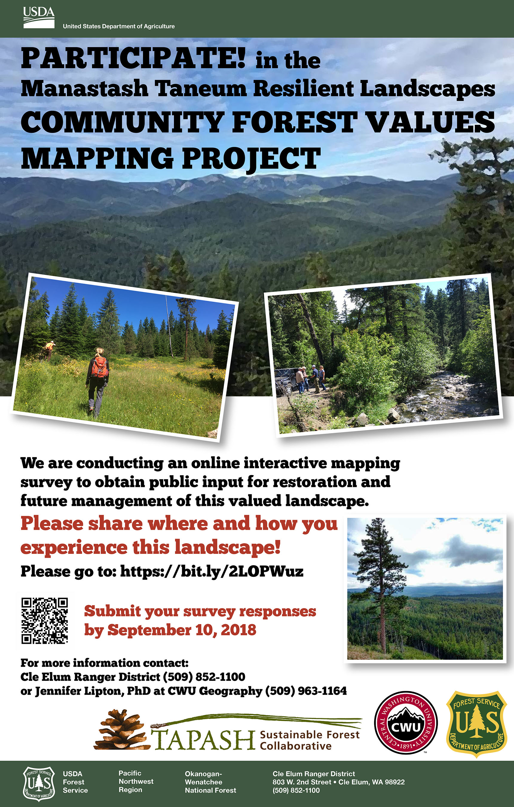 Taneum Forest project survey poster